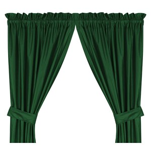 Window Treatment set Solid Semi-Sheer Rod pocket Curtain Panel (Set of 2)