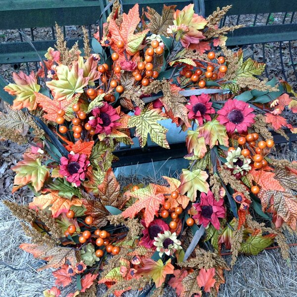 Fall Harvest 24 Wreath by August Grove