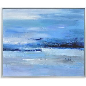 Calmness of Blue Painting Print on Canvas by Wade Logan