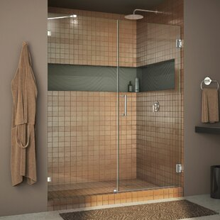 Unidoor Lux 48 x 72 Hinged Frameless Shower Door with Clearmax™ Technology ByDreamLine