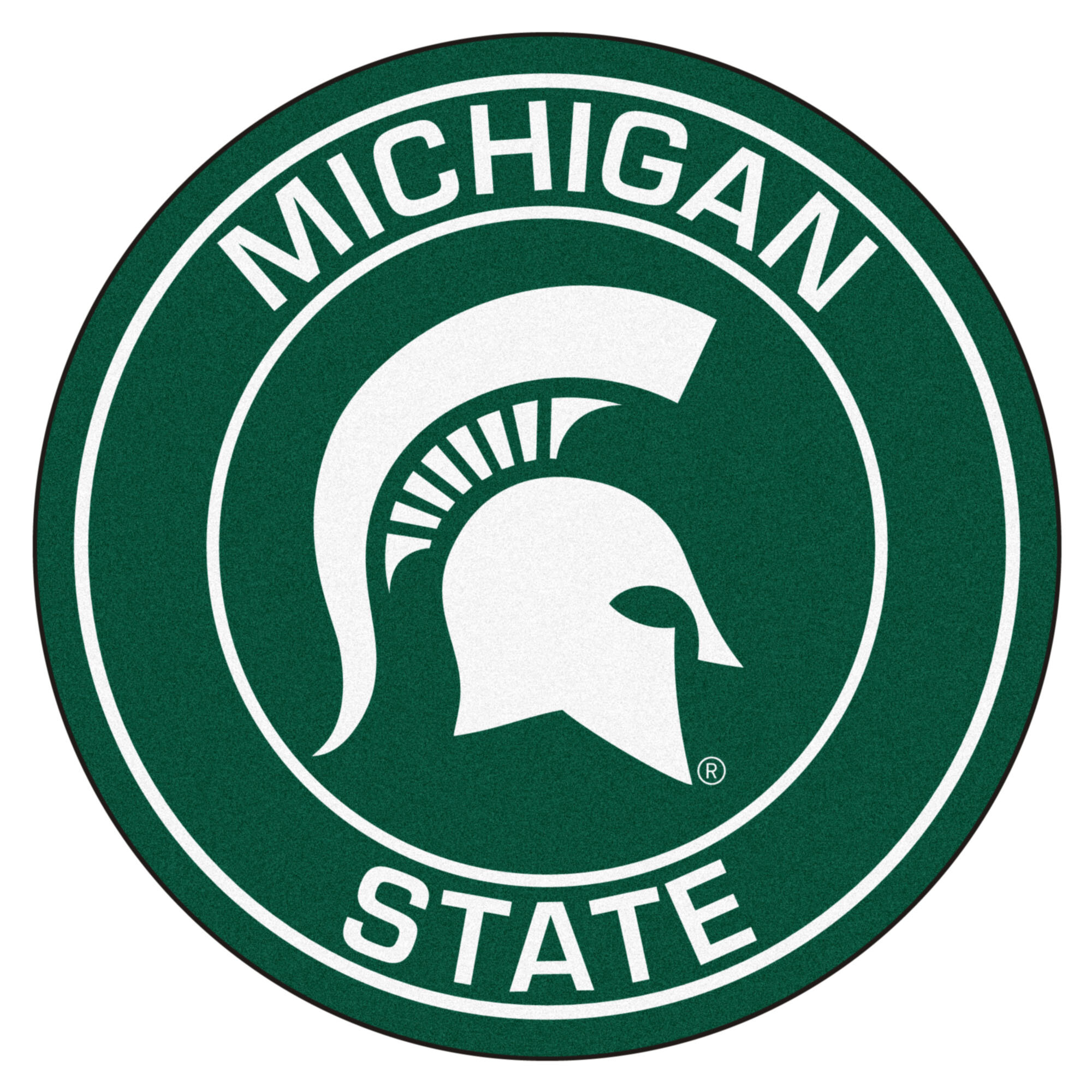 Fanmats Ncaa Michigan State University Roundel 27 In X 27 In Non Slip Indoor Only Mat Wayfair