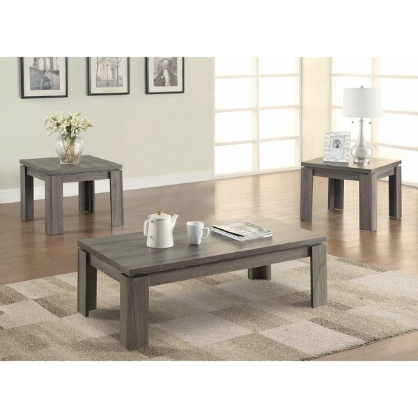 Cavet Enormous Weathered 3 Piece Coffee Table Set by Highland Dunes Highland Dunes