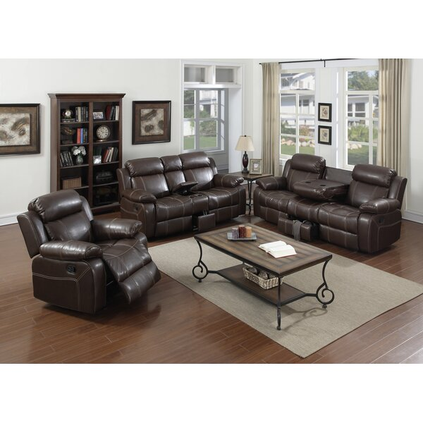 #1 Ulrey 3 Piece Reclining Living Room Set By Red Barrel Studio Comparison