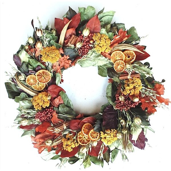 Wreath of Thanksgiving by Dried Flowers and Wreaths LLC