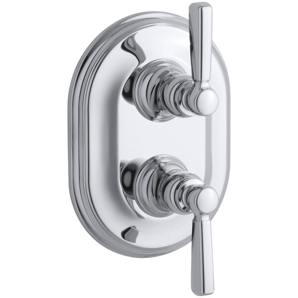 Bancroft Stacked Valve Trim with White Ceramic Lever Handles, Requires Valve by Kohler