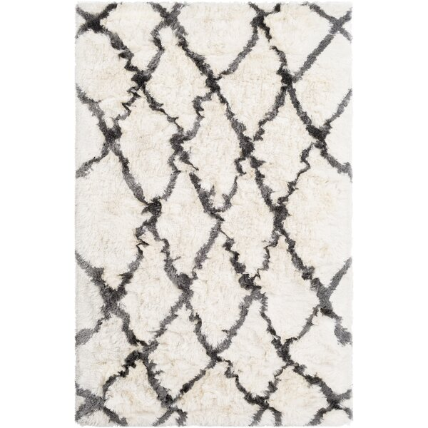 Cianciolo Hand-Tufted Trellis Cream Area Rug by Wrought Studio