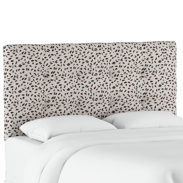 Vernita Tufted Neo Leo Upholstered Panel Headboard by Wrought Studio