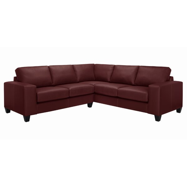 Gilford Symmetrical Italian Leather Sectional by Latitude Run Latitude Run