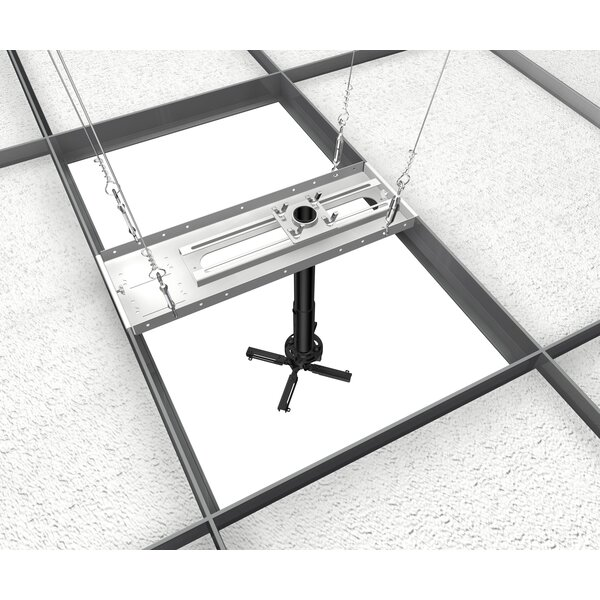 Universal Suspended Ceiling Mount Projector Kit by Crimson AV