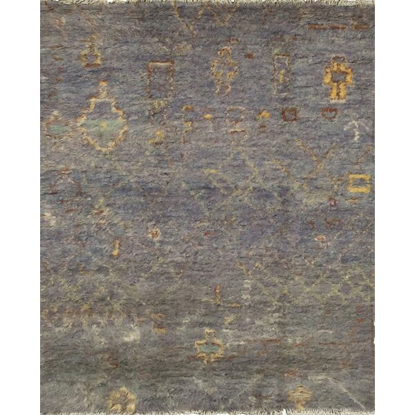 Moroccan Hand-Knotted Gray Area Rug by Pasargad