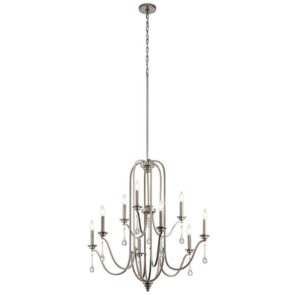 Landry 9 - Light Shaded Empire Chandelier by Rosdorf Park Rosdorf Park