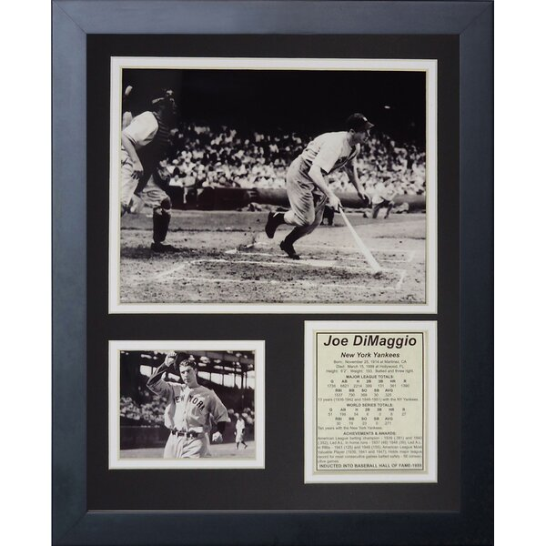 Joe DiMaggio Framed Memorabilia by Legends Never Die