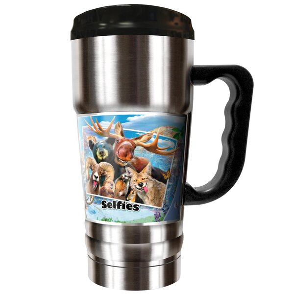 Rocky Mountain Selfies 20 oz. Stainless Steel Travel Tumbler by Great American Products