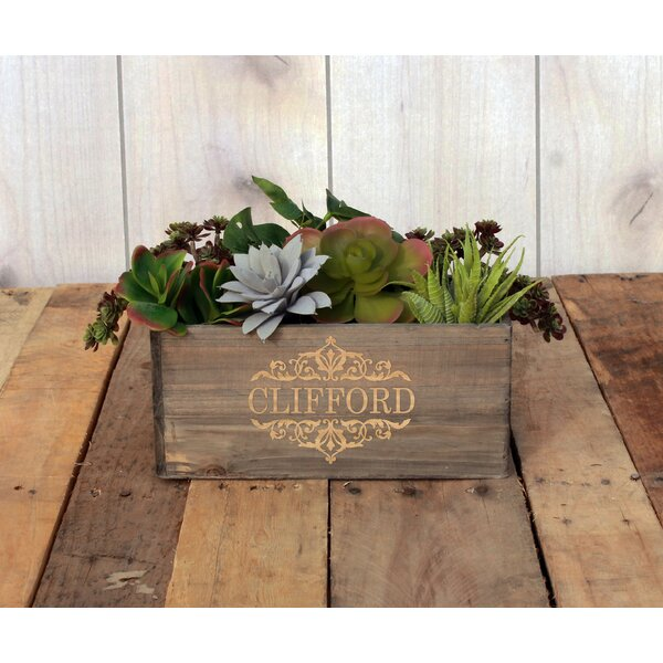 Marion Personalized Wood Planter Box by Winston Porter
