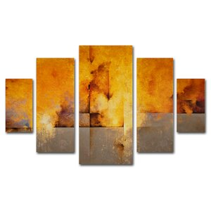 Lost Passage by Cody Hooper 5 Piece Painting Print Set by Trademark Fine Art