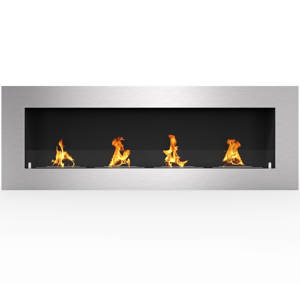 Aron Wall Mounted Bio-Ethanol Fireplace by Orren Ellis