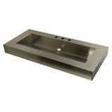 Kingston Commercial Stainless Steel Rectangular Drop-In Bathroom Sink byKingston Brass