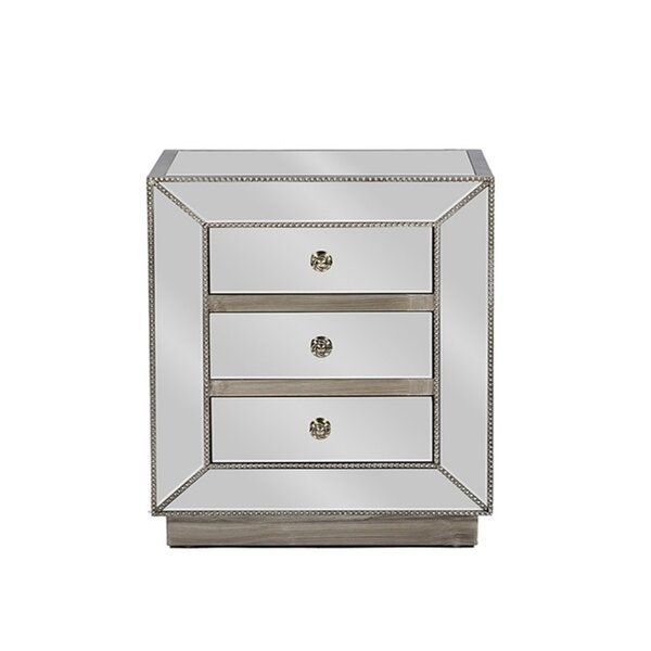 Waukesha 3 Drawer Nightstand by House of Hampton