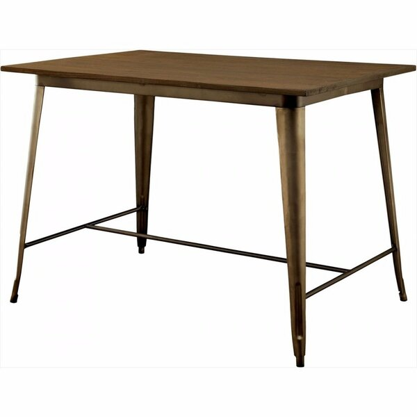Moris Counter Height Solid Wood Dining Table by Williston Forge