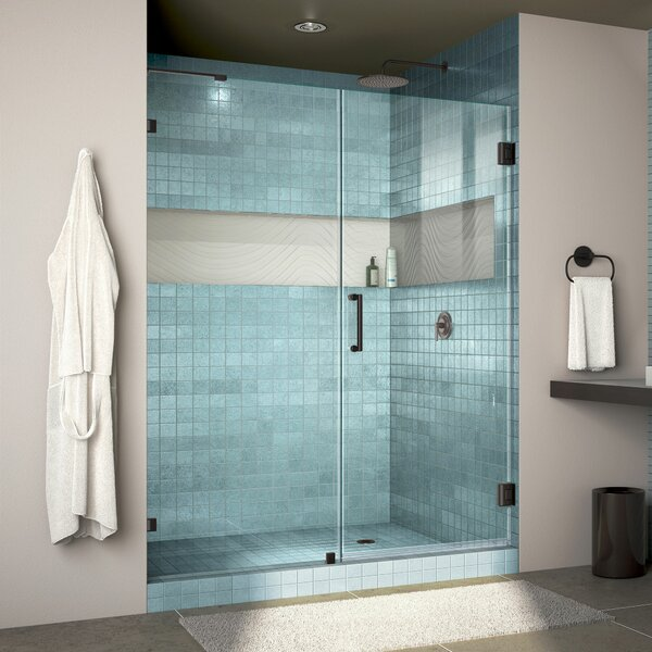 Unidoor Lux 60 x 72 Hinged Frameless Shower Door with Clearmax™ Technology by DreamLine