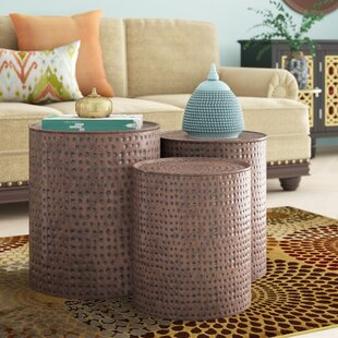 Adrianna 3 Piece Coffee Table Set Mistana