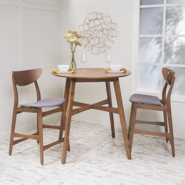 Santa Cruz 3 Piece Counter Height Dining Set by Langley Street Langley Street™