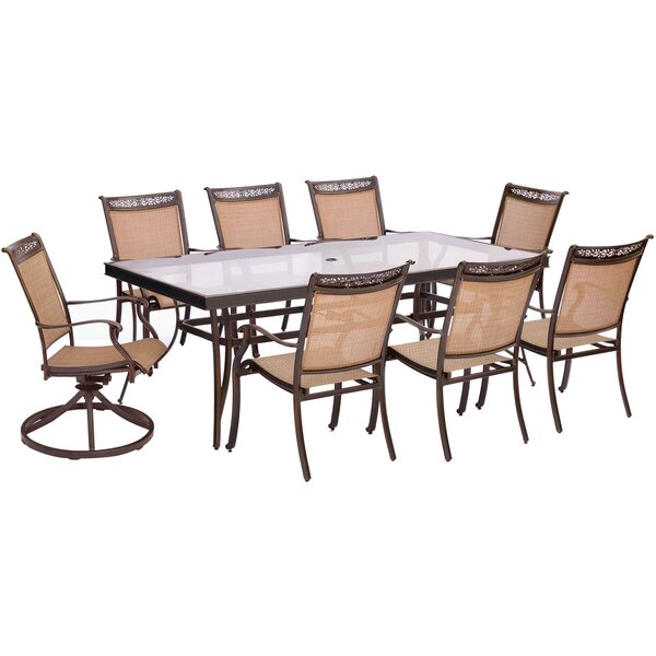 Bucher 9 Piece Dining Set by Fleur De Lis Living