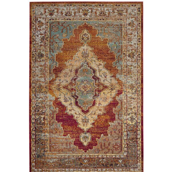 Michiana Orange Area Rug by Charlton Home