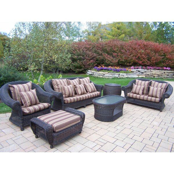 Cambridge 6 Piece Sofa Set with Cushions by Oakland Living