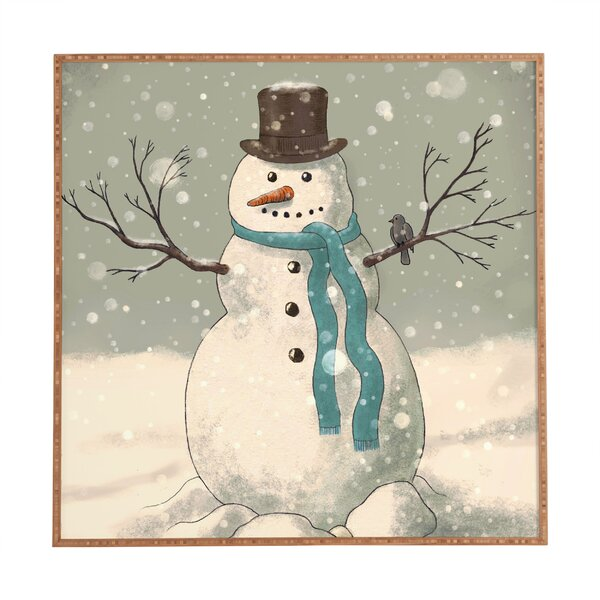 Snowman Framed Painting Print by The Holiday Aisle