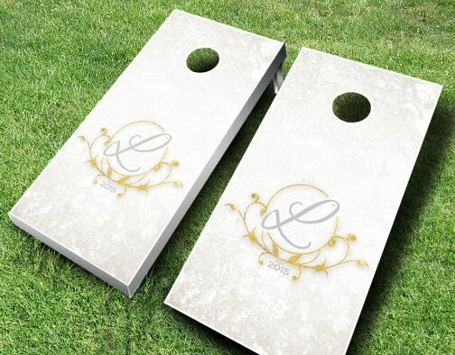 Wedding Cornhole Set by AJJ Cornhole