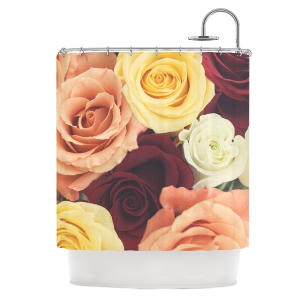 Perfect Vintage Rose Shower Curtain | Wayfair