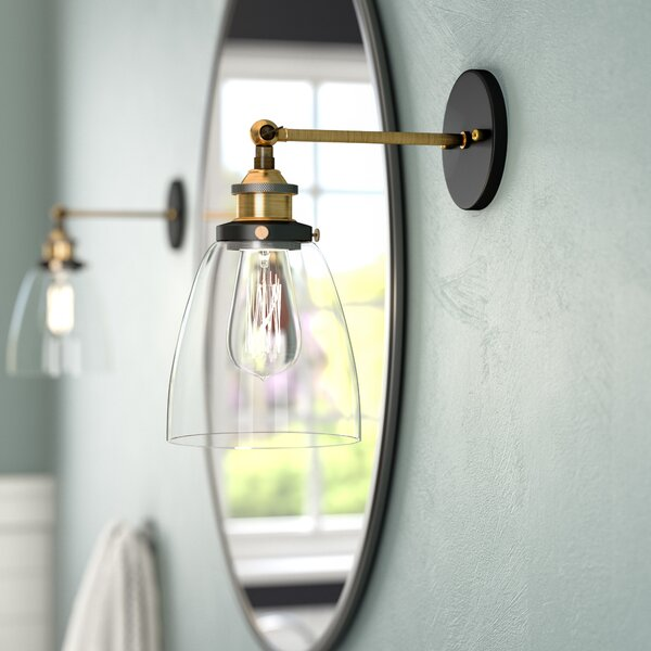 Iron Gate 1-Light Armed Sconce by Greyleigh