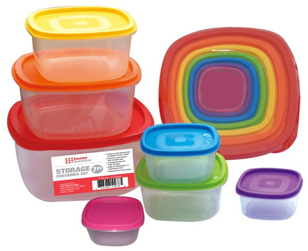 7 Container Food Storage Set by Home Basics