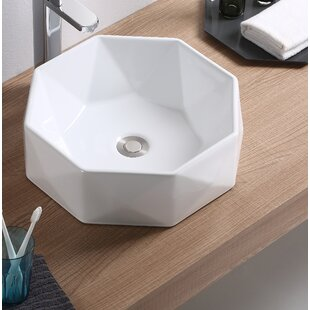 Reviews Vitreous China Specialty Vessel Bathroom Sink By Fine Fixtures