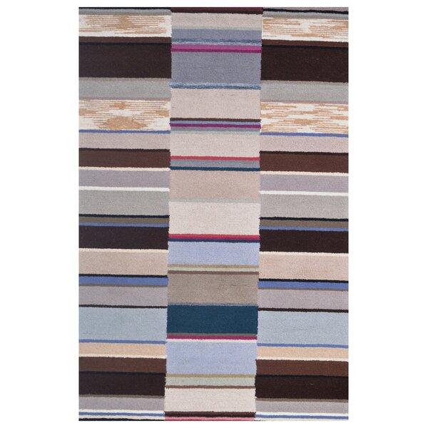 Wool Hand-Tufted Ivory/Brown Area Rug by Eastern Weavers