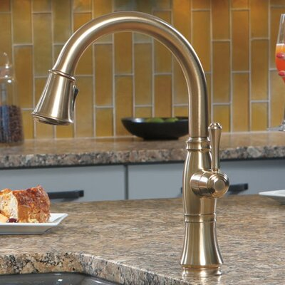 Delta Kitchen Faucet Single Handle Docking Bronze Faucets