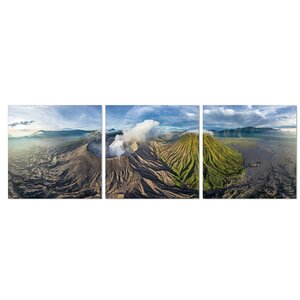Gunung Bromo 3 Piece Photographic Print Set by Furinno