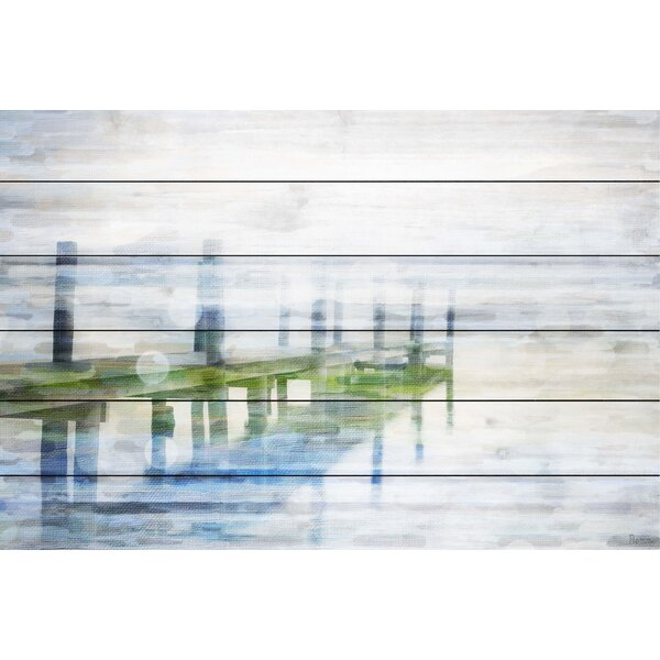 Dock Mist By Parvez Taj Painting Print On White Wood By Beachcrest Home.