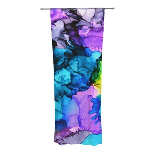 Mermaids Abstract Sheer Rod Pocket Curtain Panels Set Of 2
