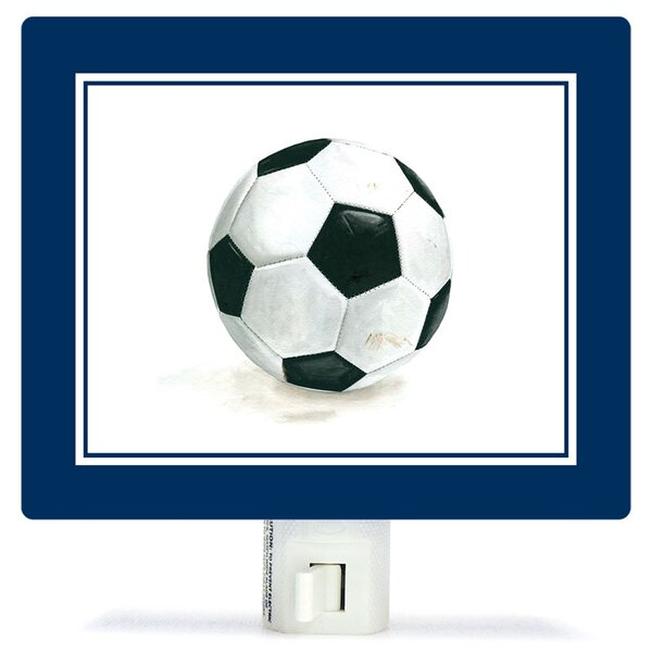 Non-Personalized Sports and Games Soccer Ball Canvas Night Light by Oopsy Daisy