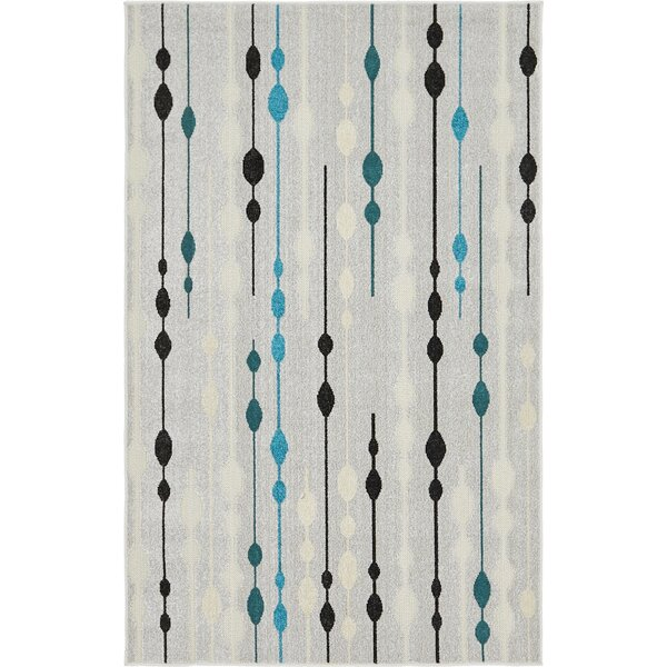 Alaina Silver Indoor/Outdoor Area Rug by Latitude Run