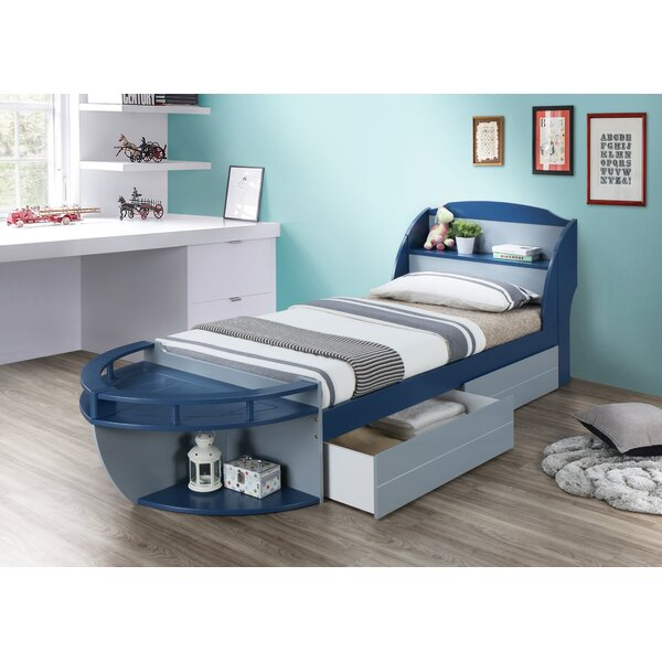 Kincade Twin Platform Bed with Drawers and Shelves by Zoomie Kids