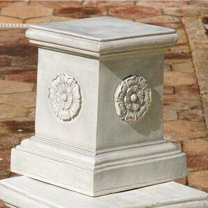 English Rosette Garden Sculptural Large Plinth