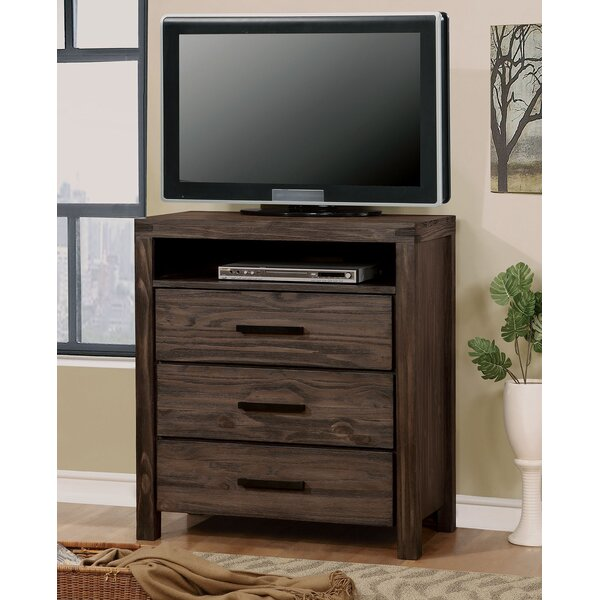 Triplett Media 3 Drawer Chest by Rosalind Wheeler