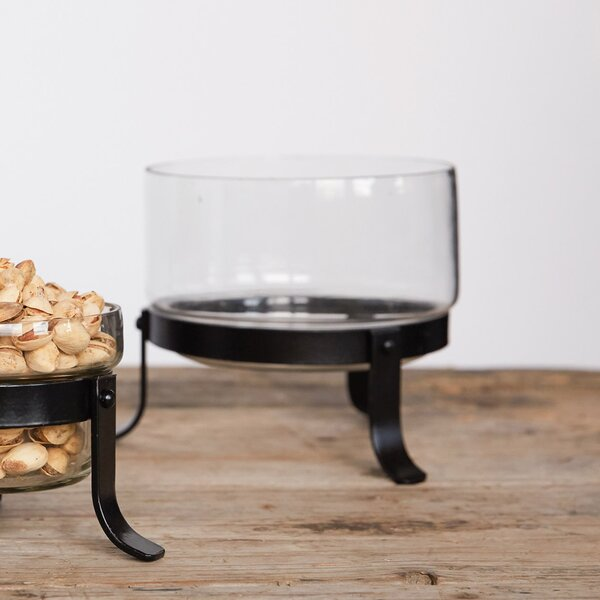 Oglethorpe Round Hand-Blown Glass Decorative Bowl by Charlton Home