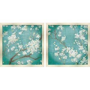Cherry Blossoms' 2 Piece Print Set by Star Creations