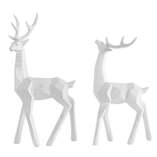 Christmas Deer Figurine by Brayden Studio