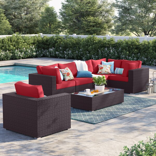 Brentwood 7 Piece Rattan Sectional Seating Group with Cushions by Sol 72 Outdoor Sol 72 Outdoor