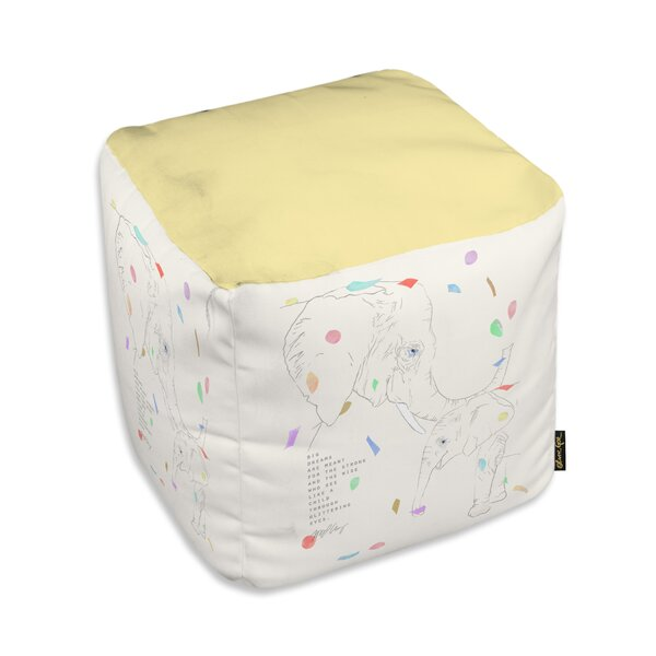 Alaniz Elephants Cube Ottoman by Ebern Designs